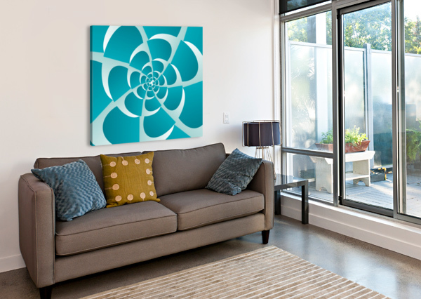BLUE GRILL RIZU_DESIGNS  Canvas Print