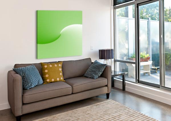 GREEN ABSTRACT  ORIGINAL RIZU_DESIGNS  Canvas Print