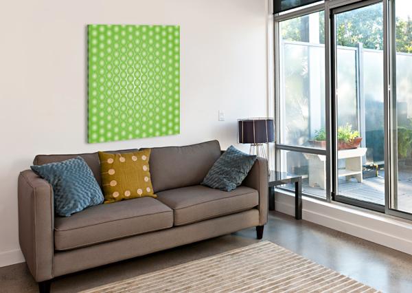 YELLOW GREEN PEARL PATTERN RIZU_DESIGNS  Canvas Print