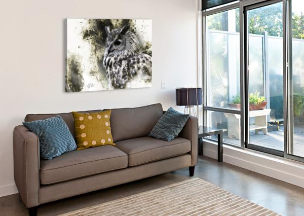 EUROPEAN EAGLE OWL RONNIE B GOODWIN  Canvas Print