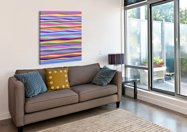 WAVY STRIPES ABSTRACT  GABRIELLA DAVID  Canvas Print