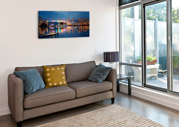 THE ARENA AMAZING VANCOUVER & BEAUTIFUL BRITISH COLUMBIA BY JORGE LIGASON  Canvas Print