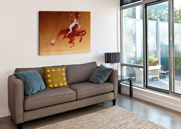 RED WINE PAWEL KUCZYNSKI  Canvas Print