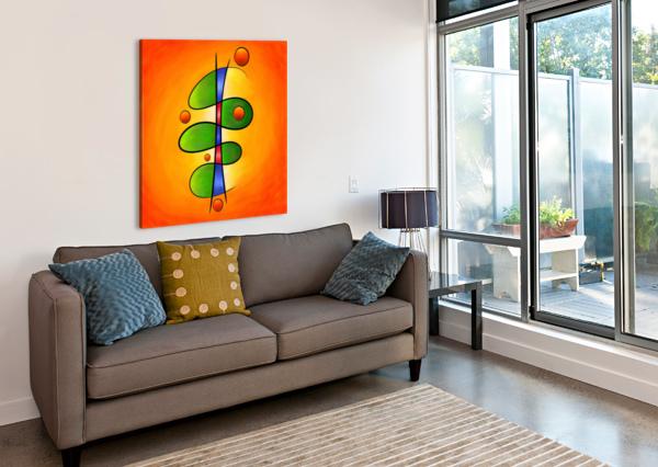 TESSANIMIA - COLOURFUL SPRING FLOWER CERSATTI ART  Canvas Print