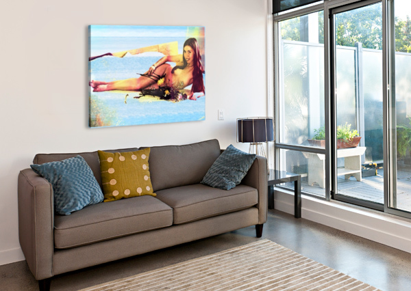 A MERMAID IN HER HOME DIMA  Canvas Print
