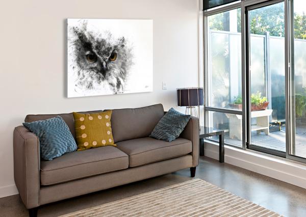 EUROPEAN EAGLE OWL 01 RONNIE B GOODWIN  Canvas Print