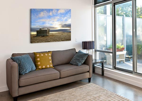 GHOST TOWN HOUSE BRENT LUKE AUGUSTUS  Canvas Print