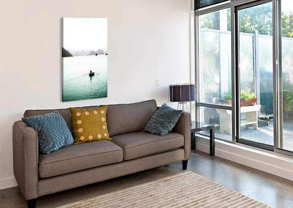 HA LONG BAY FISHING BRENT LUKE AUGUSTUS  Canvas Print