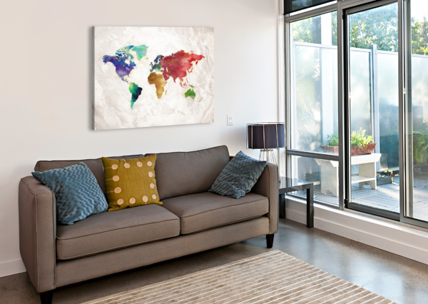 ARTISTIC WORLD MAP II ART DESIGN WORKS  Canvas Print