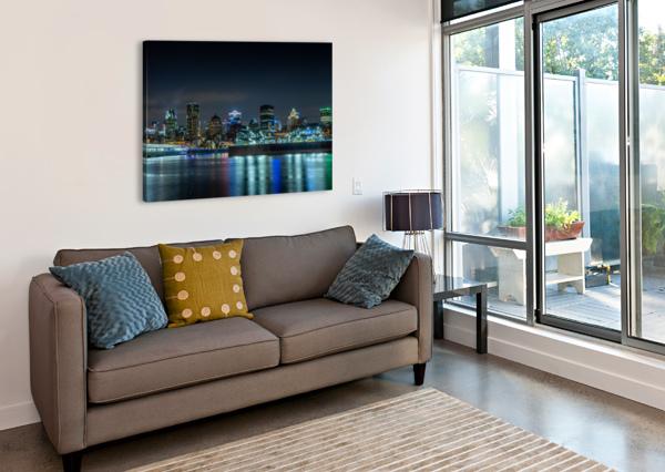 MONTREAL SKYLINE SHUTTER BLISS PHOTOGRAPHY  Canvas Print