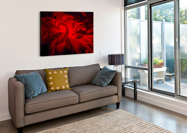 RED FIRE  VORTEXSTYLE   Impression sur toile