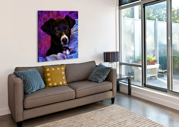 SOFT PUPPY SNUGGLES DOROTHY BERRY-LOUND  Canvas Print