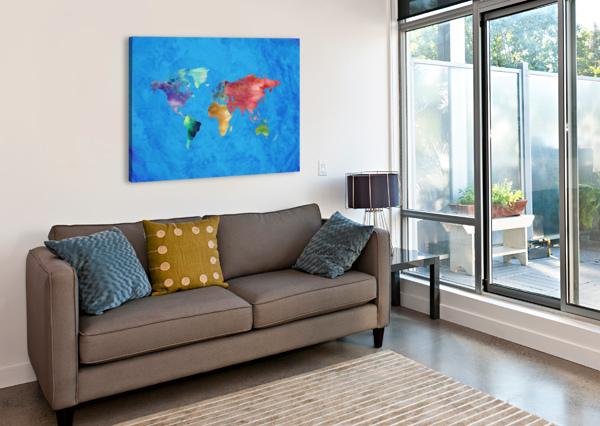 ARTISTIC WORLD MAP III ART DESIGN WORKS  Canvas Print