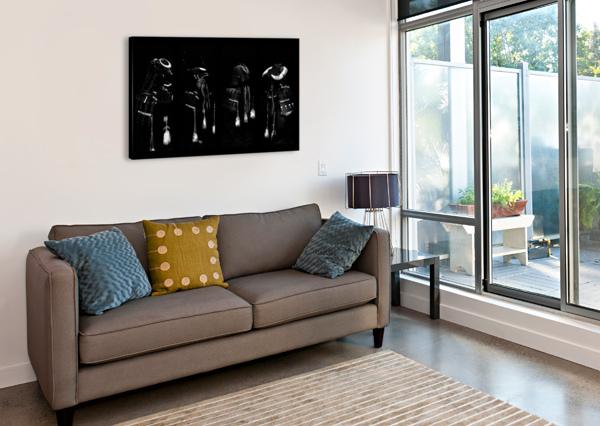 MEMORIES OF SAMURAI BLACK ARMOUR COLLAGE DOROTHY BERRY-LOUND  Canvas Print