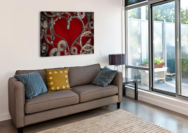 MECHANICAL LOVE  SHAWN CONNORS DESIGNS  Canvas Print