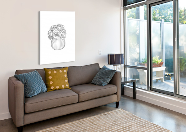 LINE DRAWING ORNELLA ART  Canvas Print