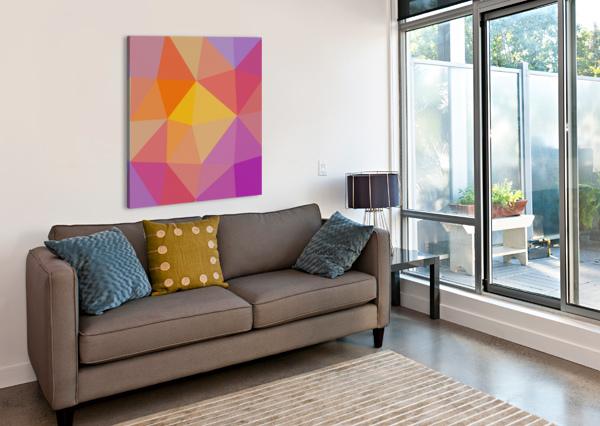 ABSTRACT ART (10) NGANHONGTRUONG  Canvas Print