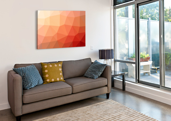 ABSTRACT ART PATTERNS LOW POLY POLYGON 3D BACKGROUNDS, TEXTURES, AND VECTORS (3) NGANHONGTRUONG  Canvas Print