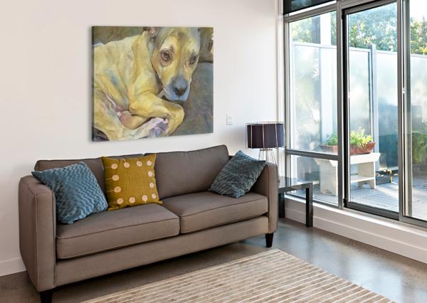 DOG PAINTING (24) NGANHONGTRUONG  Canvas Print