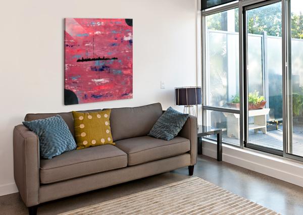 ALIEN LANDSCAPE RICK SMITH  Canvas Print