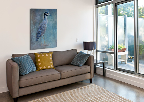 NIGHT HERON BLUES HH PHOTOGRAPHY OF FLORIDA  Canvas Print