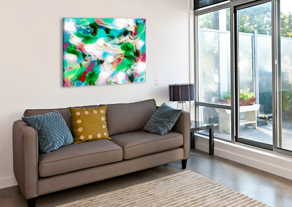 WATERFALL - MULTICOLOR ABSTRACT SWIRL WALL ART JAYCRAVE DESIGNS  Canvas Print