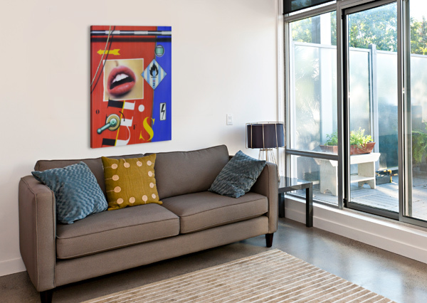 BLUE RED MOUTH VANGO ART GALLERY  Canvas Print