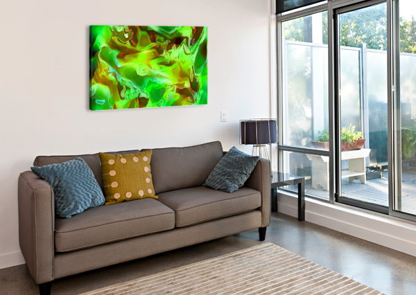 EMERALD FIELD - GREEN BROWN GOLD ABSTRACT SWIRLS JAYCRAVE DESIGNS  Canvas Print