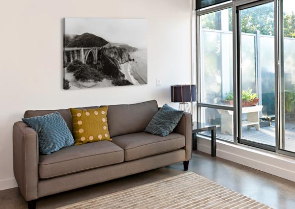 BIXBY BRIDGE B&W STEPHANIEALLARD  Impression sur toile