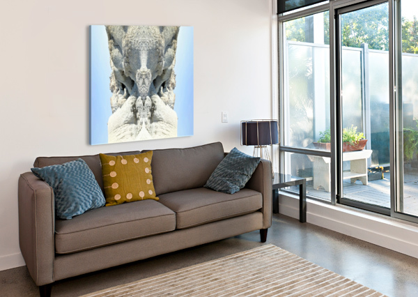 THE WHITE MONK  ALEPH-NULL  Canvas Print