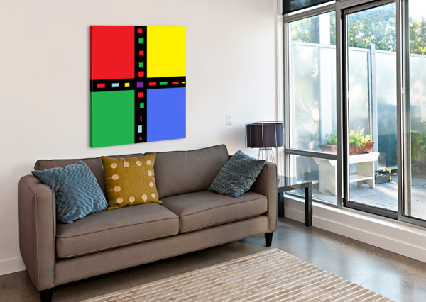 THIS IS A BEAUTIFUL DESIGN WITH GREAT COLOR, SHAPE, LINE, TEXTURE, SPACE AND VALUE.  (40) NGANHONGTRUONG  Canvas Print