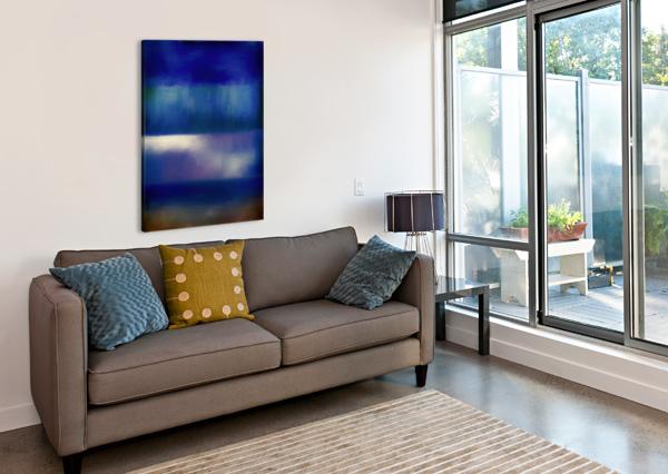 COLOR OF THE BLUES JON WOODHAMS  Canvas Print