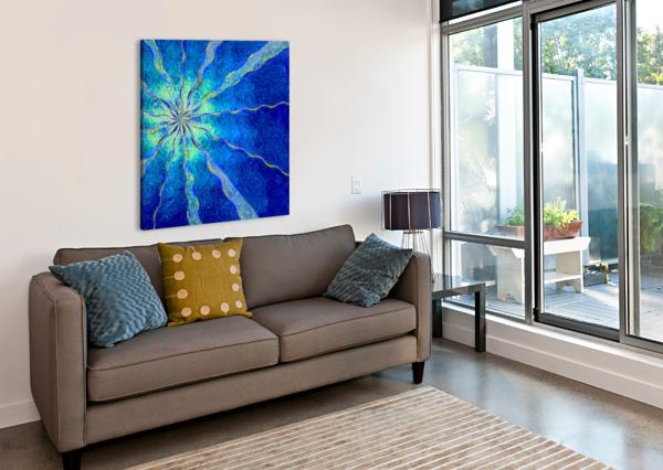 A BLUE TRUE DREAM OF SKY JON WOODHAMS  Canvas Print