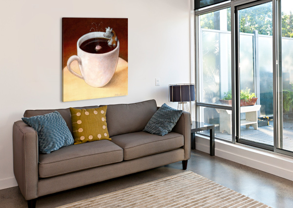 COFFEE WITH MILK PAWEL KUCZYNSKI  Canvas Print