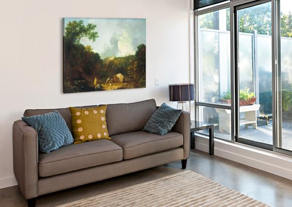 DISTANT VIEW OF MAECENAS RICHARD WILSON  Canvas Print