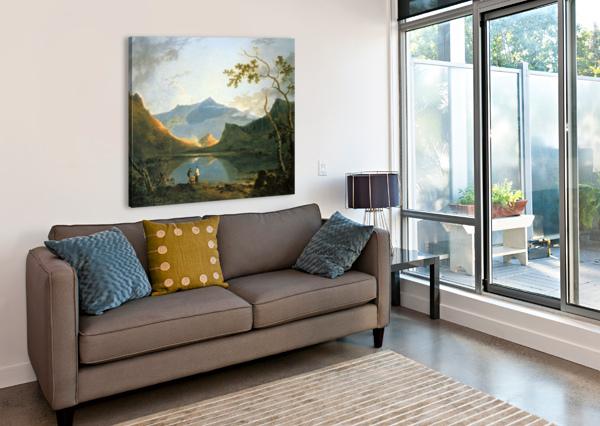 VIEW OF SNOWDON RICHARD WILSON  Canvas Print