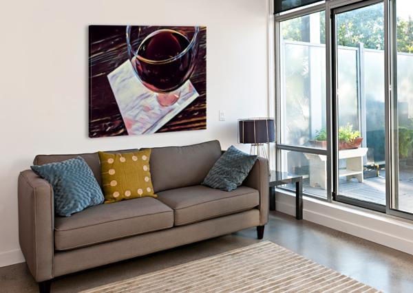 WINE ART RICHARD KROL  Canvas Print