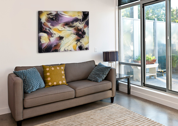 COSMIC - MULTICOLORED ABSTRACT SWIRL WALL ART JAYCRAVE DESIGNS  Canvas Print