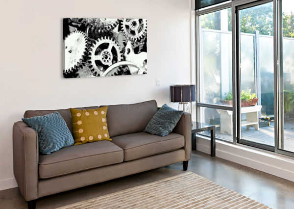 GEAR SPACE RICHARD KROL  Canvas Print