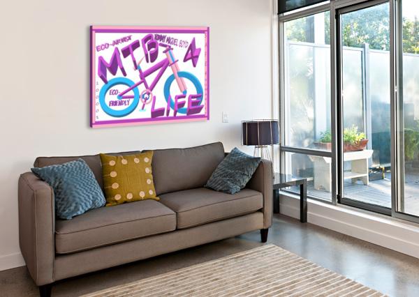 MTB 4 LIFE   ECO ARTIST TOMMY BOYD KING THOMAS MIGUEL BOYD  Canvas Print