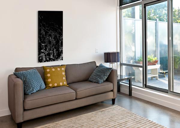 INFINITE - BLACK WHITE GRADIENT POLYGONS SWIRLS LARGE ABSTRACT WALL ART JAYCRAVE DESIGNS  Canvas Print