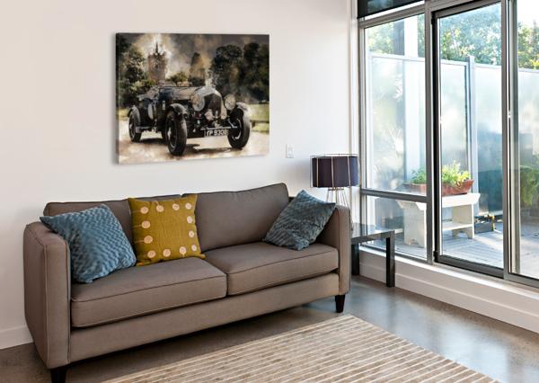 CAR AUTOMOBILE OLD TIMER AUTOMOTIVE SHAMUDY  Canvas Print