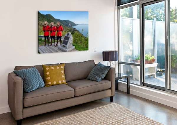 RESPECT AND HONOUR - RCMP ON FRENCH MOUNTAIN MICHEL SOUCY  Canvas Print