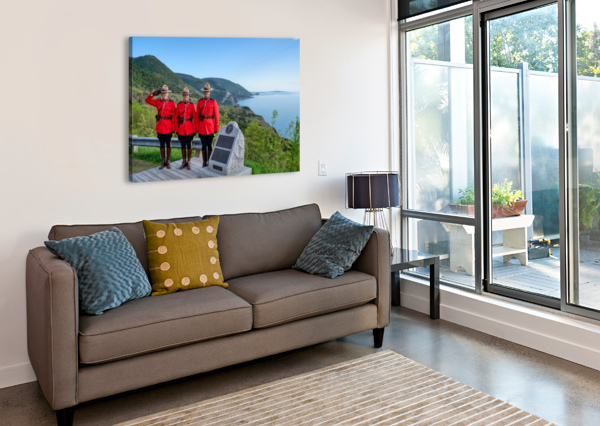 RCMP ON FRENCH MOUNTAIN MICHEL SOUCY  Canvas Print