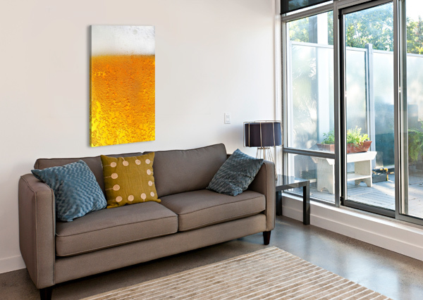BEER BUBBLES PATTERN SHAMUDY  Canvas Print