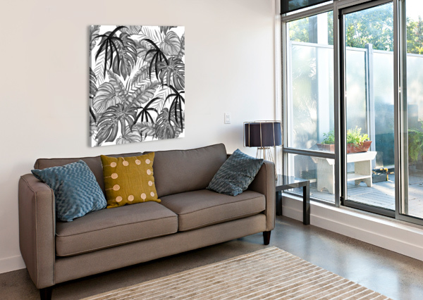 DRAWING LEAVES NATURE PICTURE SHAMUDY  Canvas Print