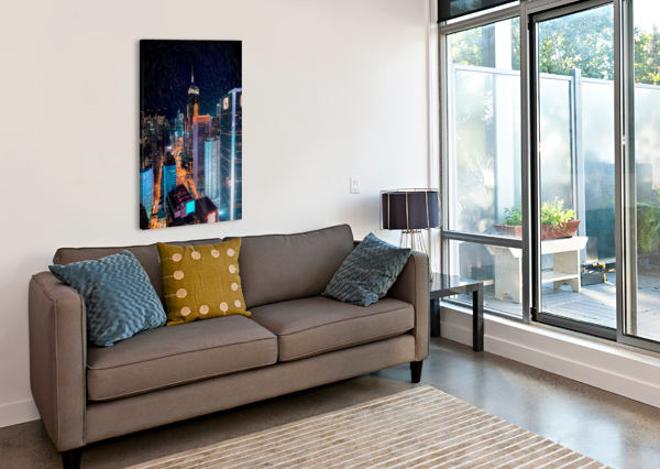 HIGH RISE BUILDINGS WITH LIGHTS SHAMUDY  Canvas Print