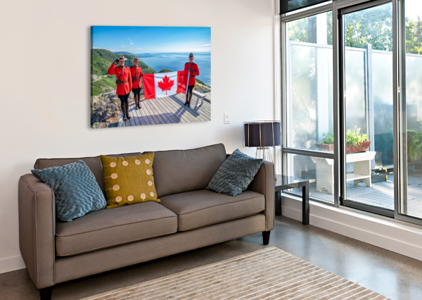 WE STAND ON GUARD FOR THEE MICHEL SOUCY  Canvas Print