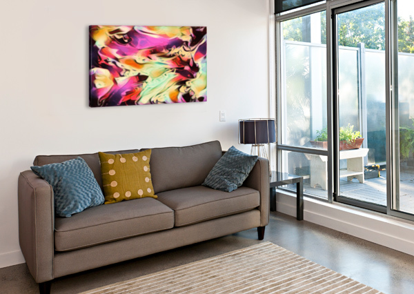 RISING GLOW - MULTICOLOR SWIRLS ABSTRACT WALL ART JAYCRAVE DESIGNS  Canvas Print