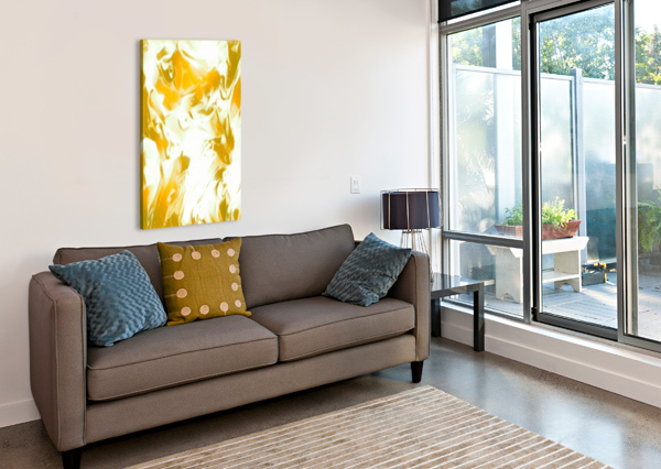 ABUNDANT AURA - WHITE GOLD SWIRLS ABSTRACT WALL ART JAYCRAVE DESIGNS  Canvas Print